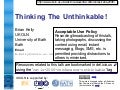 Thinking The Unthinkable: Introduction