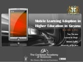 Mobile learning adoption in higher ...