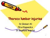 Thoraco lumbar injuries