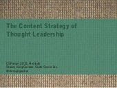 The Content Strategy of Thought Leadership