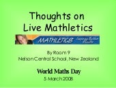 Thoughts On Live Mathletics