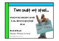 Thou Shalt Not Steal - What every teacher needs to know about staying legal online