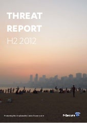 Threat Report H2 2012