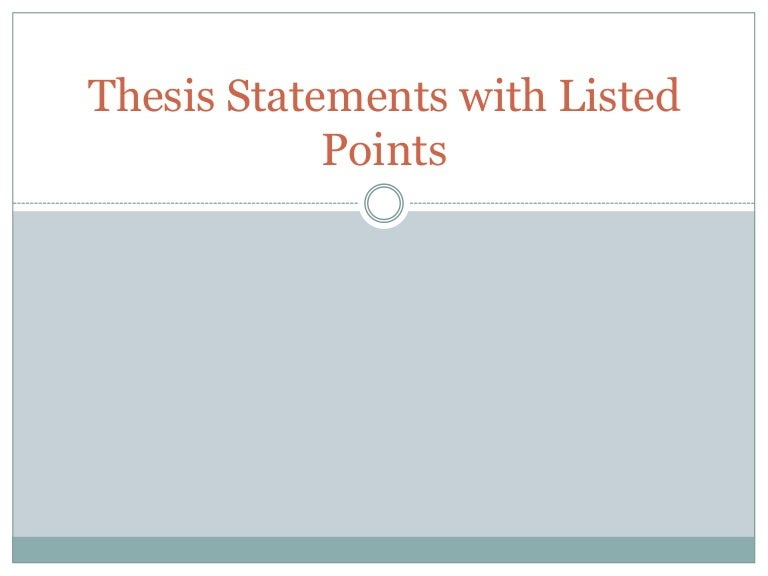 Three part thesis statement