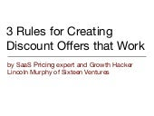 3 Rules for Creating Discount Offers that Work