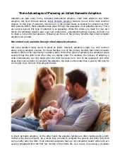Three Advantages of Pursuing an Infant Domestic Adoption