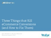 3 Things That Are Killing Your eCom...