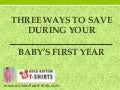Three ways to save money during your baby's first year