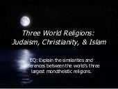 Three World Religions