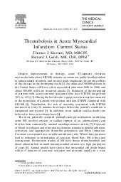 Thrombolysis In Acute MI Current St...