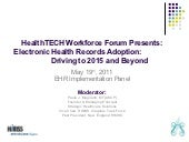 Moderator_EHR Panel: Thurs ct healt...