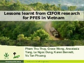 Lessons learnt from CIFOR research for PFES in Vietnam