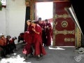Tibetan pilgrims & prayer wheels