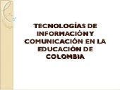 Tics educativas colombia