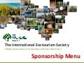 The International Ecotourism Society (TIES) Sponsorship Menu