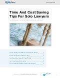 Time And Cost Saving Tips For Solo Lawyers
