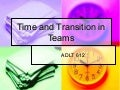 Time and transition in teams