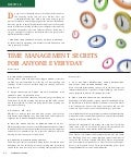 Time management secrets for anyone everyday affluent magazine