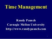 Time managementtalk