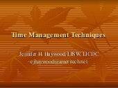 Time management techniques-Jennifer...