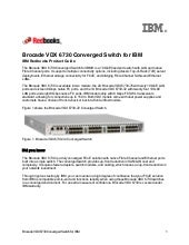 Brocade VDX 6730 Converged Switch f...