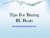 Tips for buying rc boats