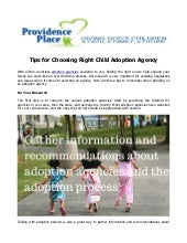 Tips for Choosing Right Child Adoption Agency