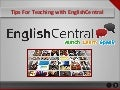 Tips for teaching with EnglishCentral