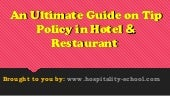 Tips Policy in Hotel & Restaurant - Ultimate Guide