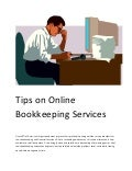 Tips on online bookkeeping services