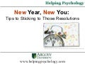 New Year, New You: Tips to Sticking to Those Resolutions