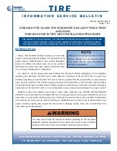 Tire information service bulletin v...