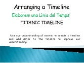 Titanic timeline timetoast tasks