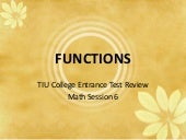 TIU CET Review Math Session 6 - par...