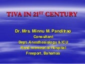 Tiva in 21st century by prof. minnu...