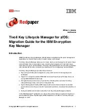 Tivoli key lifecycle manager for z ...