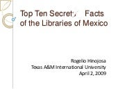 Top Ten Secrets of the Libraries of...