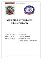 TLC.....THIN LAYER CHROMATOGRAPHY.....