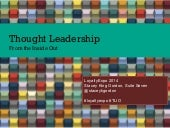 Thought Leadership from the Inside Out
