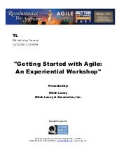 Getting Started with Agile: An Expe...