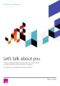 White paper - Let's talk about you