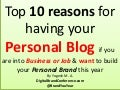 To 10 Reasons to build your blog brand