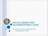 Toastmasters Social Media Marketing