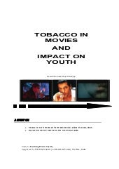 Study on: Tobacco in Movies and Imp...