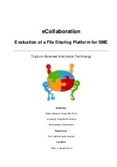 eCollaboration: Evaluation of a Fil...