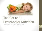 Toddler and Prechooler Nutrition