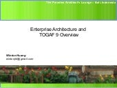Enterprise Architecture for Dummies - TOGAF 9 enterprise architecture overview