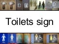 A lot of toilets signs