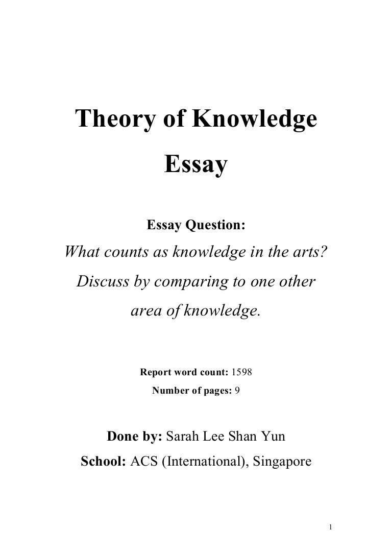 Essay On Knowledge Essay On Knowledge Siol Ip Essay On Knowledge Tok Theory  Of Knowledge Essay