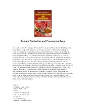 Tomato production and processing book